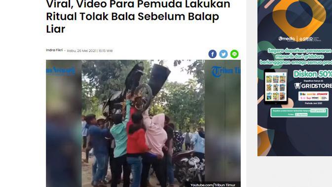 Cek Fakta Liputan6.com menelusuri klaim video membasmi Covid-19 dengan motor berkenalpot corong