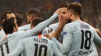 Chelsea meraih kemenangan 1-0 atas BATE Borisov pada laga keempat Grup L Liga Europa, di Borisov Arena, Kamis (8/11/2018). (AP Photo/Sergei Grits)