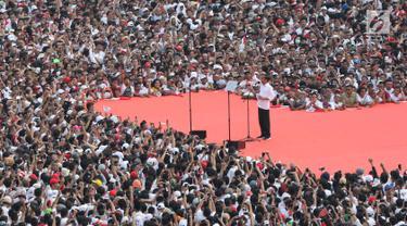 Gaya Pidato Jokowi Bakar Semangat Pendukung Konser Putih Bersatu