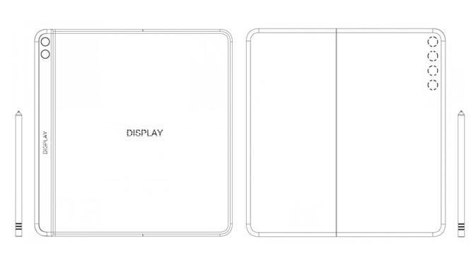 Paten Huawei Mate X2. (Doc: EUIPO)