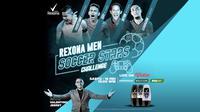 Empat pesepak bola Indonesia bersaing pada turnamen Rexona Men Soccer Stars Challenge.
