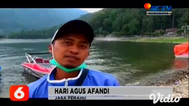 Kekeringan di Kabupaten Magetan, Jawa Timur merugikan beberapa pihak. Bahkan debit air di Telaga Sarangan kini surut mencapai 7,8 meter kubik sejak 4 bulan terakhir dan Waduk Gonggang juga mengalami kekeringan.