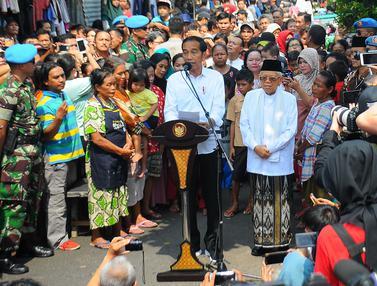 Pidato Kemenangan Jokowi di Kampung Deret