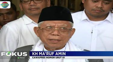 Selain mendengarkan sambutan dari Ma'ruf, musisi muslim Haddad Alwi mengajak warga selawatan serta doa sebagai bentuk dukungan untuk paslon Jokowi-Ma'ruf.