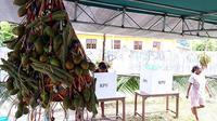Sajian pinang dan sirih di TPS saat Pilkada Papua 2018 di Kelurahan Abepantai, Kota Jayapura. (Kabarpapua.co/Liza Indriyani)