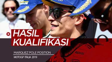 Berita video hasil kualifikasi MotoGP Italia 2019 di mana Marc Marquez meraih pole position, sedangkan Valentino Rossi harus start dari posisi jauh di belakang.