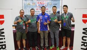 Rifat Sungkar (kedua dari kanan) selaku Ketua Komisi Rally IMI melepas 5 pereli yang bakal ikut APRC (istimewa)
