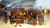 Red Gank, komunitas suporter PSM Makassar yang juga kerap memberikan dukungan dalam laga tandang. (Bola.com/Abdi Satria)