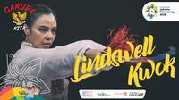 Garuda Kita Asian Games Lindswell Kwok (Bola.com/Foto: Vitalis Yogi  /Grafis: Adreanus Titus)