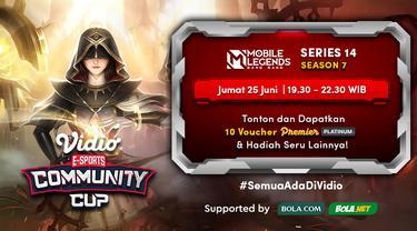 Link Live Streaming Vidio Community Cup Season 7 Mobile Legends Series 14, Jumat 25 Juni 2021
