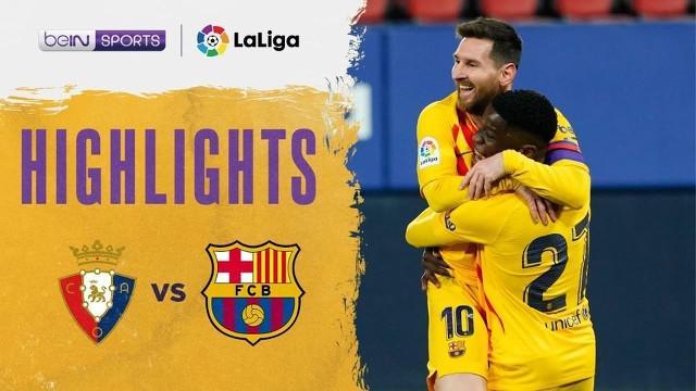 Berita video gol wonderkid Barcelona, Ilaix Moriba, dalam highlights kemenangan Blaugrana atas Osasuna 2-0 pada pekan ke-26 Liga Spanyol 2020/2021, Minggu (7/3/2021) dinihari WIB.