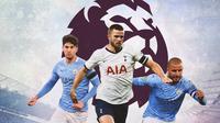 Premier League - John Stones, Eric Dier, Kyle Walker (Bola.com/Adreanus Titus)