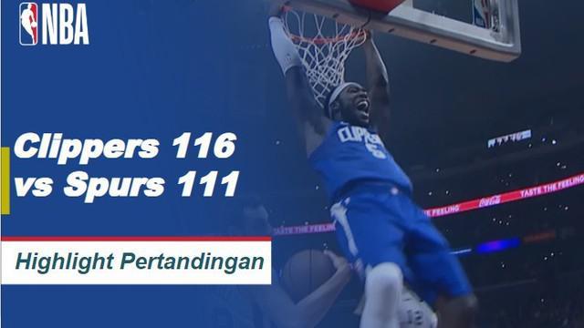 Lou Williams mencetak 23 poin dan mencetak tiga kopling untuk memimpin Clippers mengalahkan Spurs, 116-111