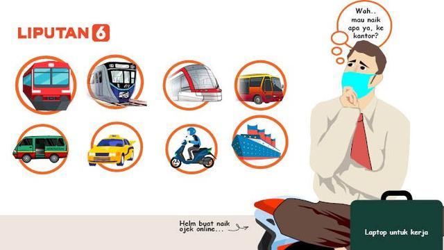 Infografis Transportasi Publik Jakarta Saat Psbb Transisi News Liputan6 Com