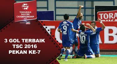 Video 3 gol terbaik Torabika Soccer Championship 2016 pada pekan ke-7.