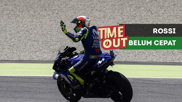 Berita video Time Out kali ini tentang pembalap Movistar Yamaha, Valentino Rossi, yang merasa belum cukup cepat untuk bersaing dalam perebutan juara dunia MotoGP 2018.