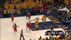 Berita video game recap NBA 2017-2018 antara Houston Rockets melawan Utah Jazz dengan skor 100-87.