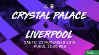 Premier League - Crystal Palace Vs Liverpool (Bola.com/Adreanus Titus)