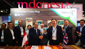 Booth Indonesia menjadi salah satu yang dilirik pada Seatrade Cruise Global USA 2019