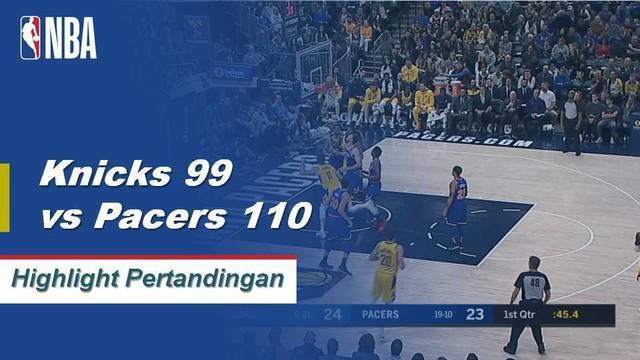Victor Oladipo dan Miles Turner ujung tombak Pacers, mencetak 26 poin dan 24 poin. Membawa Pacers menang atas Knicks