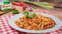 Masakan Rendang Ayam Suwir akan semakin nikmat dan lezat jika dimasak bersama kepala sangrai.