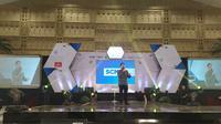 Kegiatan Emtek Goes to Campus 2019 di Graha Universitas Negeri Surabaya (Unesa), Kamis (7/11/2019). (Foto: Liputan6.com/Dian Kurniawan)