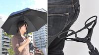 """Produk ini memang sangat menarik, karena kursi dan payung dengan kegunaan yang berbeda digabung menjadi satu hingga menjadi """"payung kursi."""
