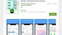 Aplikasi ini disebut-sebut bisa mengukur suhu tubuh, padahal kenyataannya aplikasi ini hanyalah aplikasi untuk mencatat suhu tubuh dan menganalisanya (Foto: Google Play Store)