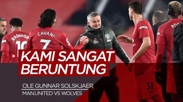 Berita video wawancara Ole Gunnar Solskjaer soal keberuntungan Manchester United bisa kalahkan Wolverhampton di Liga Inggris, Rabu (30/12/20)