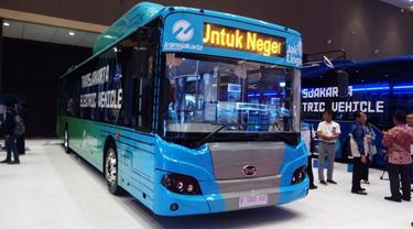 Bus Listrik Transjakarta di Busworld South East Asia 2019