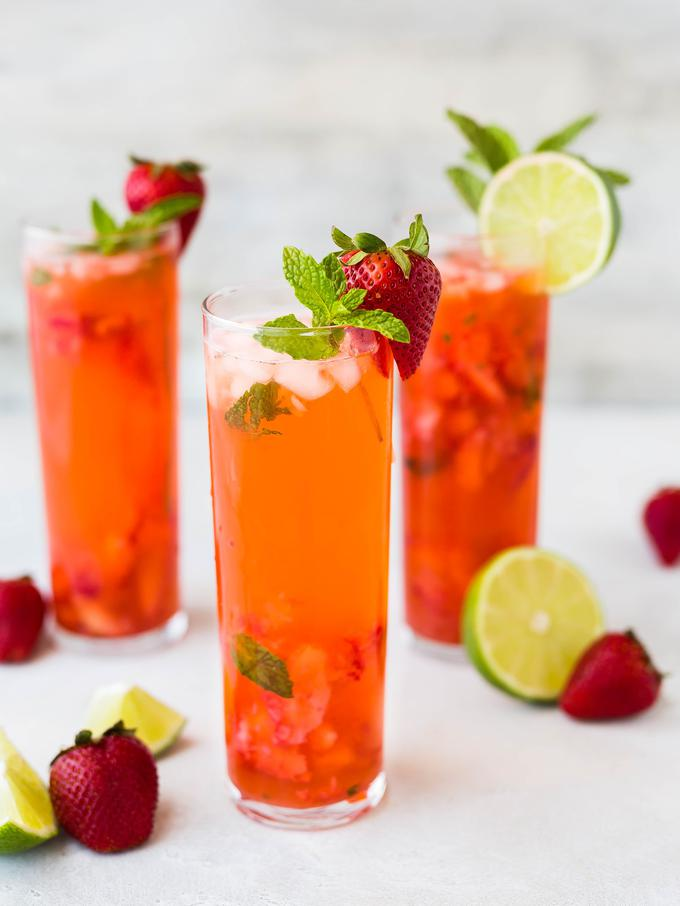 Resep Strawberry Virgin Mojito Non Alkohol Segar Lifestyle