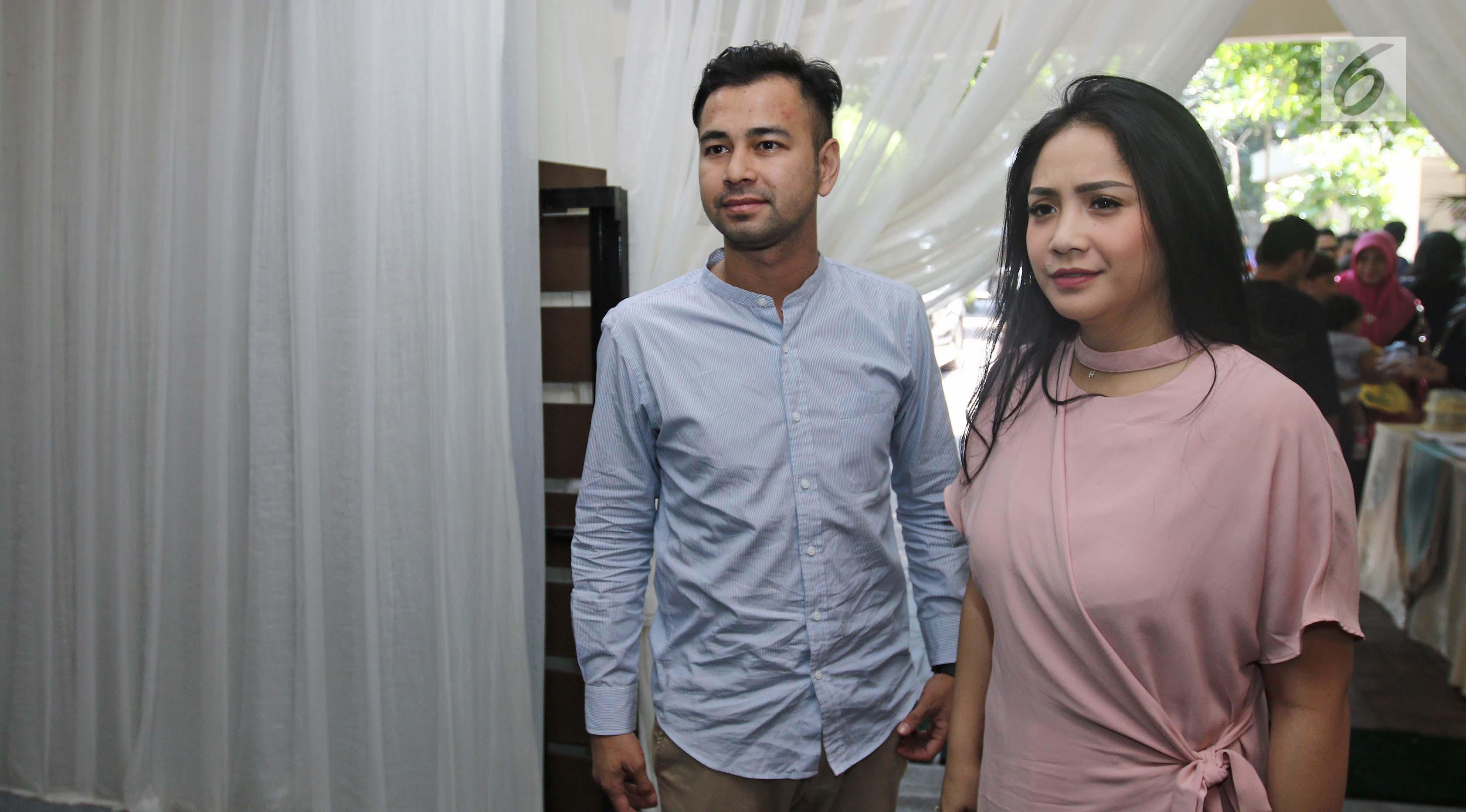 Raffi Ahmad dan Nagita Slavina. (Liputan6.com/Herman Zakharia)