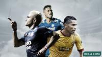Wander Luiz, Cristian Gonzales dan Alberto Goncalves. (Bola.com/Dody Iryawan)
