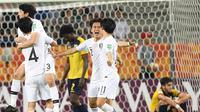 Korea Selatan melaju ke final Piala Dunia U-20 2019 setelah menundukkan Ekuador. (AFP/Janek Skarzynski)