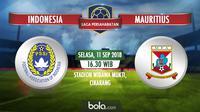 Jadwal laga persahabatan internasional, Indonesia vs Mauritius. (Bola.com/Dody Iryawan)