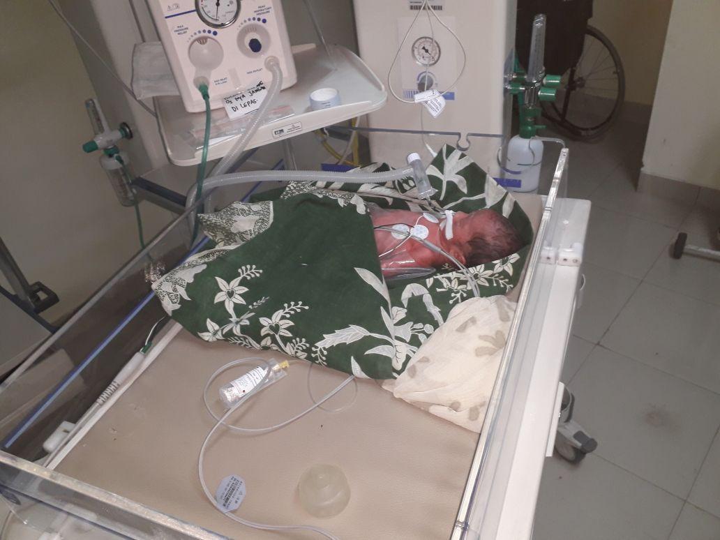 Bayi tampan yang dilahirkan peserta SBMPTN Univeritas Hasanuddin (Fauzan/Liputan6com)