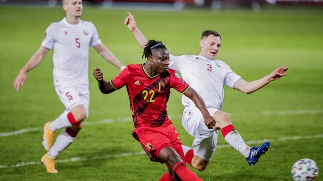 FOTO: Tanpa Romelu Lukaku, Belgia Lumat Belarusia 8-0 - Jeremy Doku
