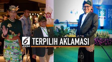 Muhaimin Iskandar atau Cak Imin kembali terpilih menjadi Ketua Umum PKB periode 2019-2024. Cak Imin dipilih oleh 34 DPW PKB seluruh Indonesia.