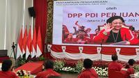 Ketua Umum DPP PDIP Megawati Soekarnoputri pada acara pemberian penghargaan kepada para atlet dan pengurus Paralimpiade Tokyo 2020. (Foto: Dokumentasi PDIP).