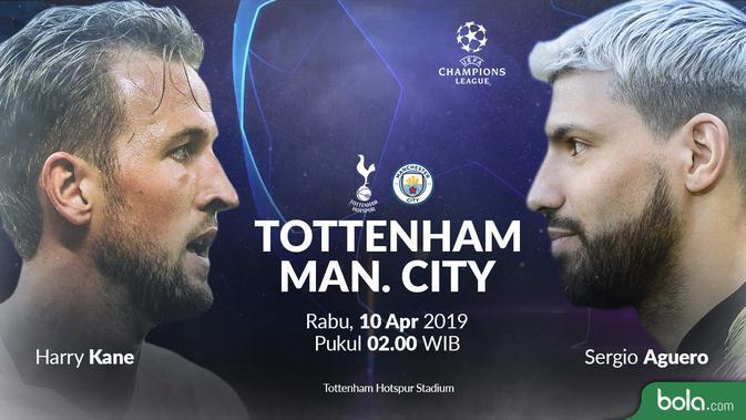 Liga Champions Data Dan Fakta Tottenham Hotspur Vs Manchester City Bola Liputan6 Com
