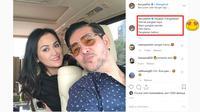 Gombalan Ferry Salim dalam media sosial miliknya (Sumber: Instagram/ferrysal1m)