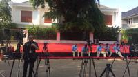 Panggung kecil di markas pemenangan Prabowo-Sandiaga, Jl Kertanegara, Kebayoran Baru, Jaksel