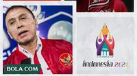 Kolase - Logo Shopee Liga 1, Selebrasi Marko Simic, Mochamad Iriawan, Logo Piala Dunia U-20 2021 (Bola.com/Adreanus Titus)