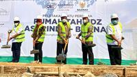 Pembangunan Rumah Belajar Al-Quran atau Rumah Tahfidz Askrindo-Baznas di wilayah Cibungbulang, Bogor (dok: Askrindo)