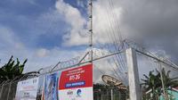 Salah satu BTS BAKTI yang dibangun dari dana universal service obligation (USO) di Desa Waringin, Kab Pulau Morotai (Liputan6.com/ Agustin Setyo W).
