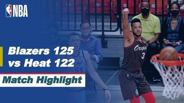 Berita video highlight NBA, Portland Trail Blazers Taklukan Miami Heat dengan Skor 125-122, Jumat (26/3/2021)