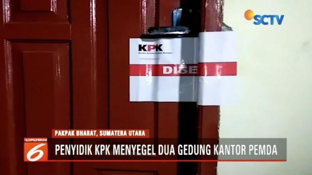 Terkait operasi tangkap tangan Remingo Yolanda Berutu, KPK segel dua gedung kantor Pemkab Pakpak Bharat.