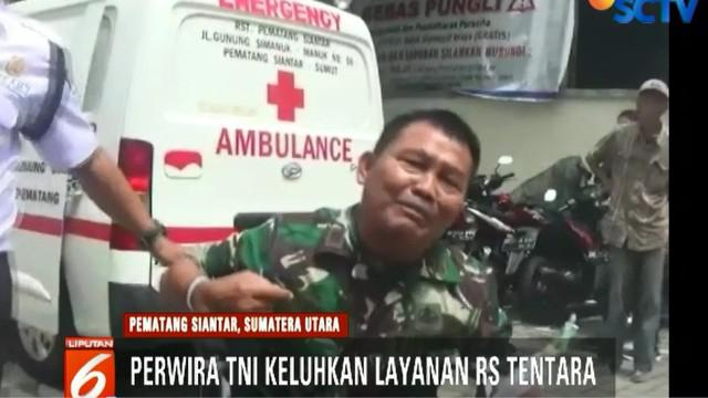 Keluhan Kapten Leo Sianturi dibantah Komandan Detasemen Kesehatan Wilayah Pematang Siantar Letkol CKM Suhartono.