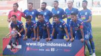 Skuat PSIS Semarang menjelang duel kontra Tira Persikabo di Stadion Moch Soebroto, Magelang, Jumat (2/8/2019). (Bola.com/Vincentius Atmaja)