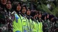 Polwan-Kowad Cantik Ikut Amankan Debat Final Pilgub DKI
